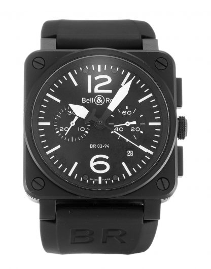 Bell and Ross  Homme Baton noir Carbon