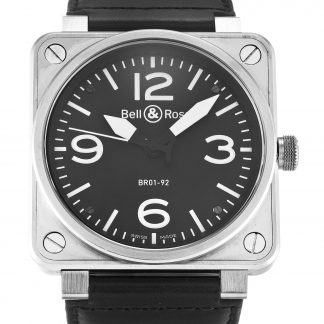 Bell and Ross  Homme Quartier noir arabe Steel
