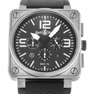 Bell and Ross  Homme Quartier noir arabe Titanium