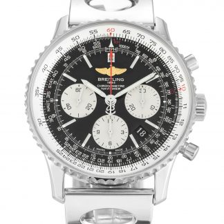 Breitling Navitimer Homme Cadrans noirs Silver Baton-Silver AB0120