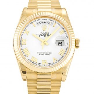 Rolex Day-Date Homme Blanc: chiffre romain 118238