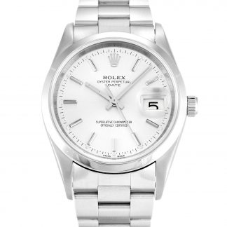 Rolex Oyster Perpetual Unisexe Silver Baton 15200