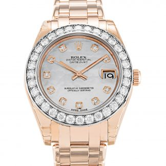 Rolex Pearlmaster Femme Diamant Nacre Blanche 81285